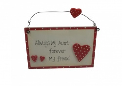Aunt Forever My Friend Plaque