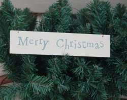 East of India Merry Christmas Plaque
