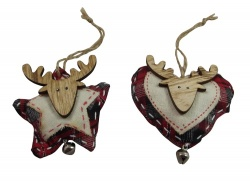 Heaven Sends Tartan Reindeer Decorations