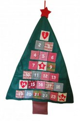 Gisela Graham Christmas Decoration - Fabric Tree Advent Calendar