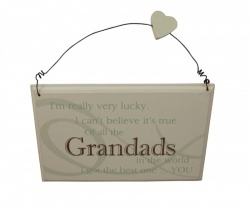 Best Grandad in the world plaque