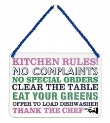 Kitchen Rules Metal Plaque