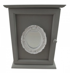 Shabby Chic Grey Mirror Keybox