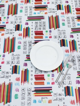 Peggy Wilkins Pvc Tablecloth - Crayons