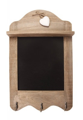 Scalloped Blackboard With 3 Hooks