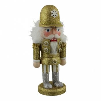 Golden Grandeur Nutcracker Decoration