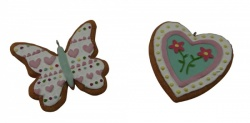Gisela Graham Easter Treats Heart and Butterfly