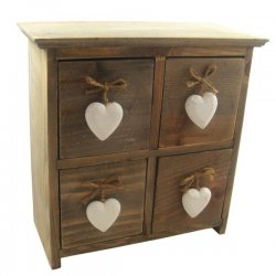 Gisela Graham Rustic 4 Drawer Cabinet