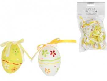 Gisela Graham Easter Decorations - Yellow White Floral