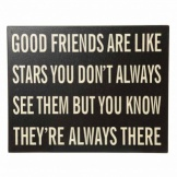 Heaven Sends Good Friends Are Like Stars Sign