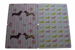 Pretty Sausage Dog Placemats