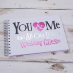 Bright Side Wedding Guest Book - You & Me