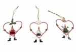 Gisela Graham Christmas Tin Characters In Wire Heart