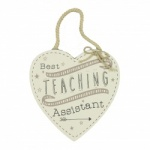 Best Teaching Assistant Hanging Heart Plaque