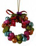 Gisela Graham Christmas Tree Decoration - Glitter Bell Wreath