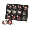 Heaven Sends Set of 12 Red & Silver Mini Christmas Tree Baubles