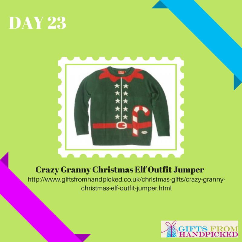 crazy granny christmas elf outfit jumper