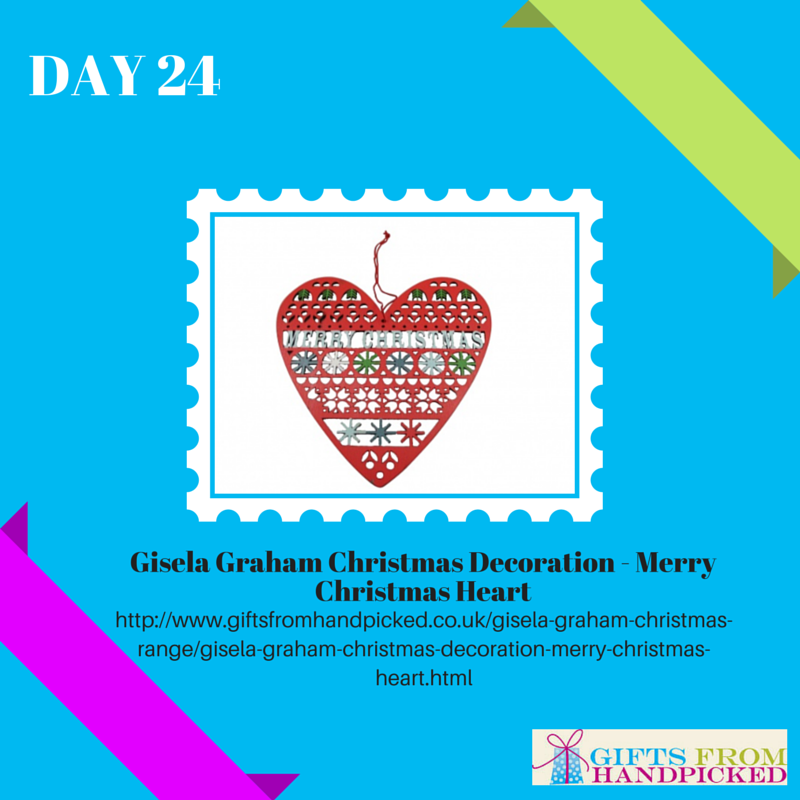 fretwork advent calendar hanging heart sign