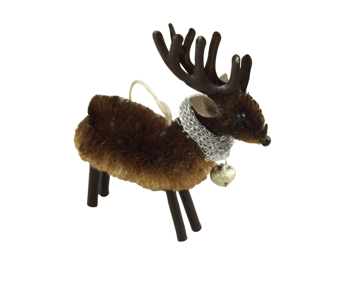 reindeer textured christmas decoration