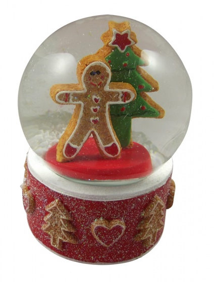 gingerbread snowglobe christmas