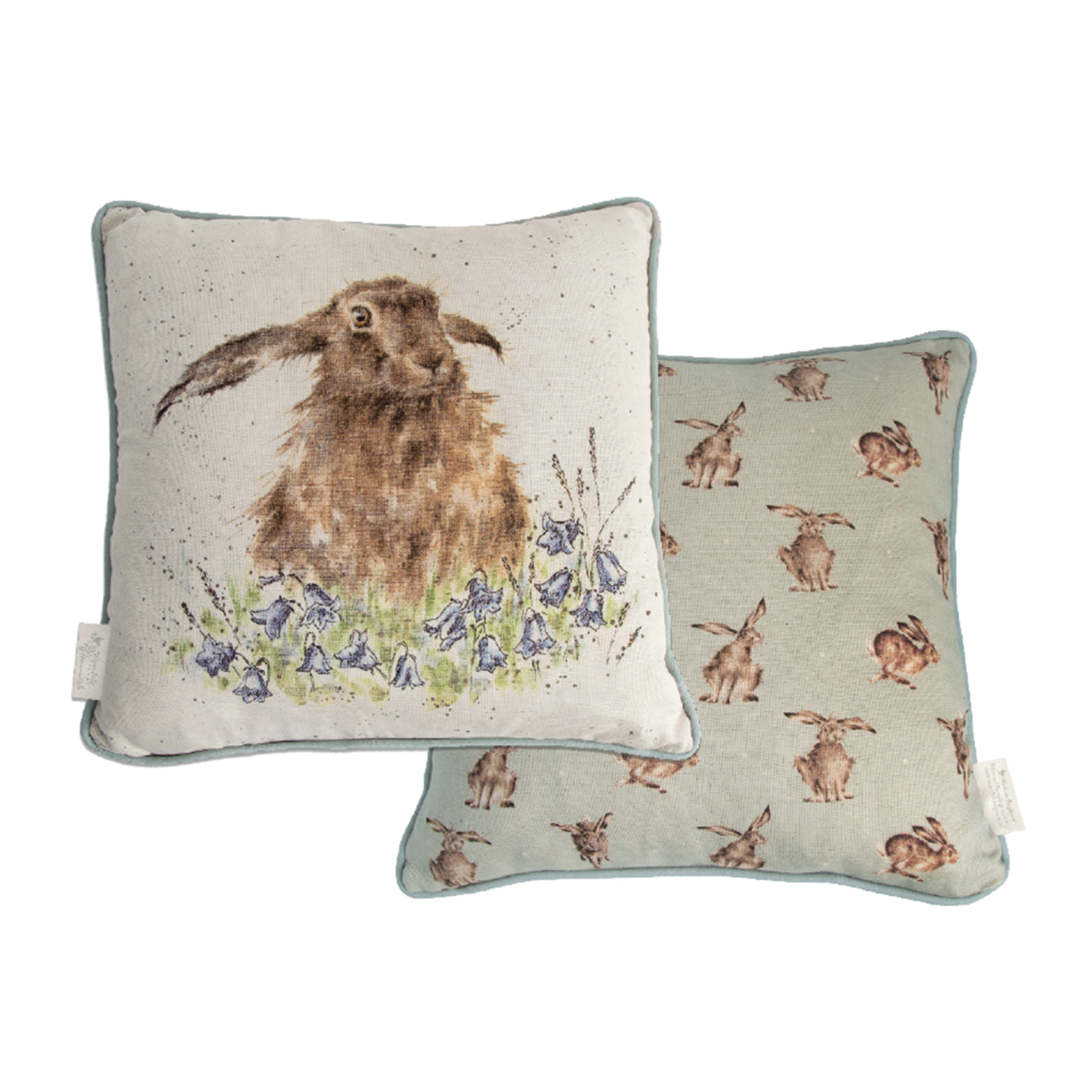 wrendale designs hare cushion