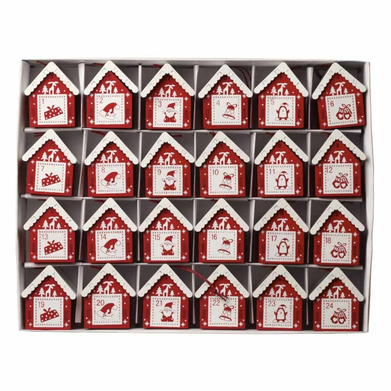 advent calendar individual houses
