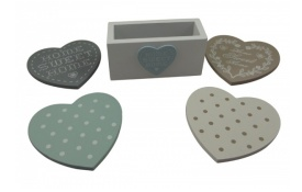 heart coasters perfect home accessory