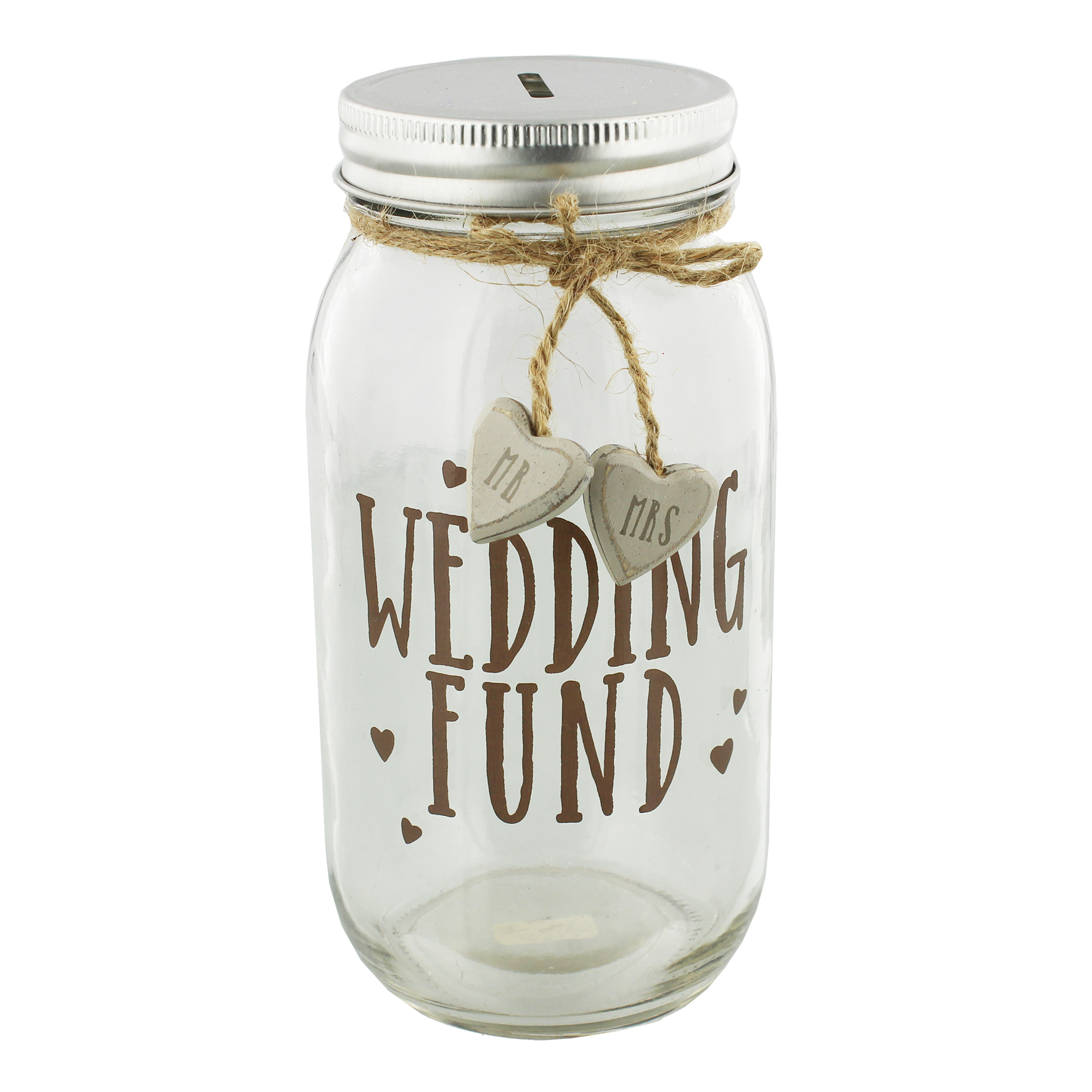 wedding fund glass money jar