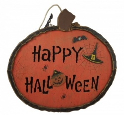 happy halloween hanging pumpkin stand