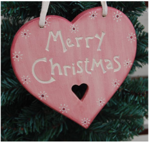 merry christmas wooden hanging block