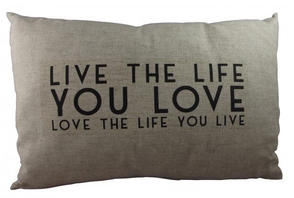 east of india live the life you love cushion