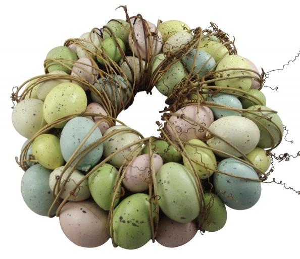 Gisela Graham Easter Speckled Egg Wreath