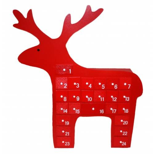 standing red reindeer advent calendar