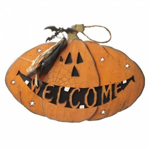 Halloween pumpkin welcome sign by Heaven Sends