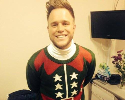 Olly Murs in one of our Crazy Granny Jumpers!