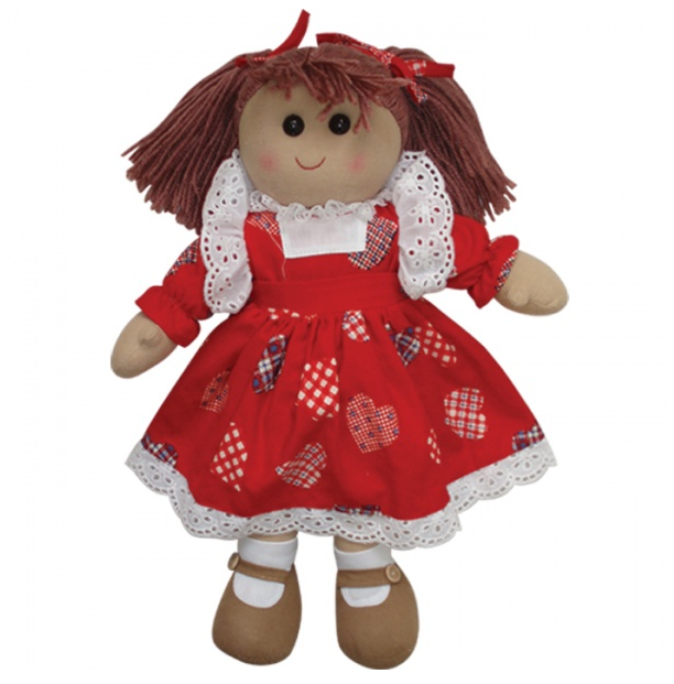 red rag doll perfect for childrem