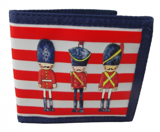 boys london solider themed wallet, great boys gift idea