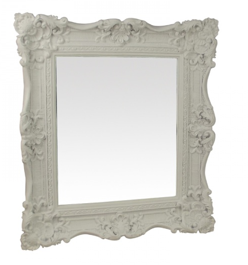 white framed mirror gisela graham