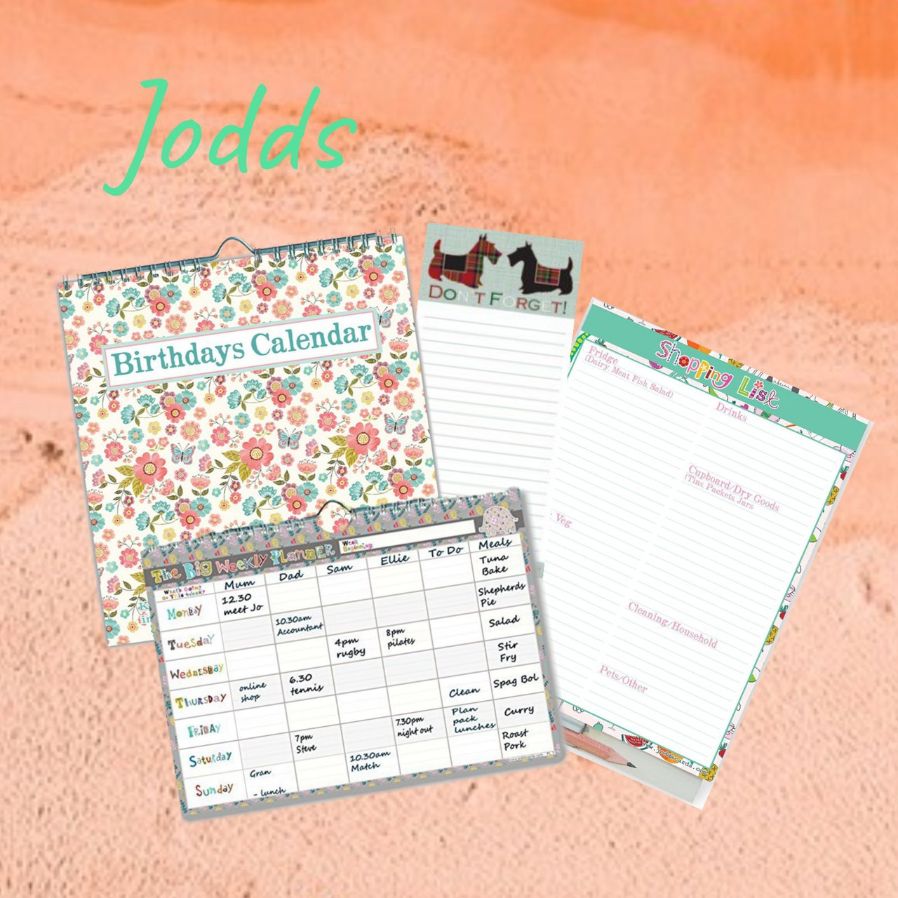 jodds card and organised stationery