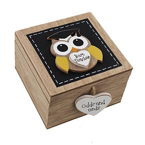 owl trinket box, teacher keepsake box, teacher keepsakes
