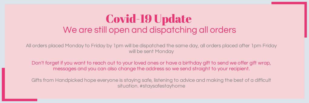 COVID-19 Statement | Gifts from Handpicked Blog