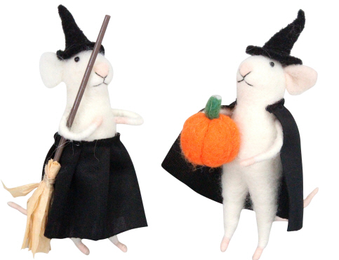 Gisela Graham Mix of Halloween Mice decorations