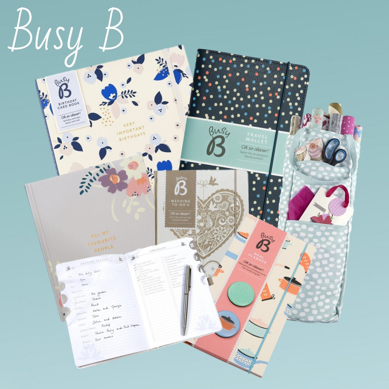 Busy b stationery range including wedding planner