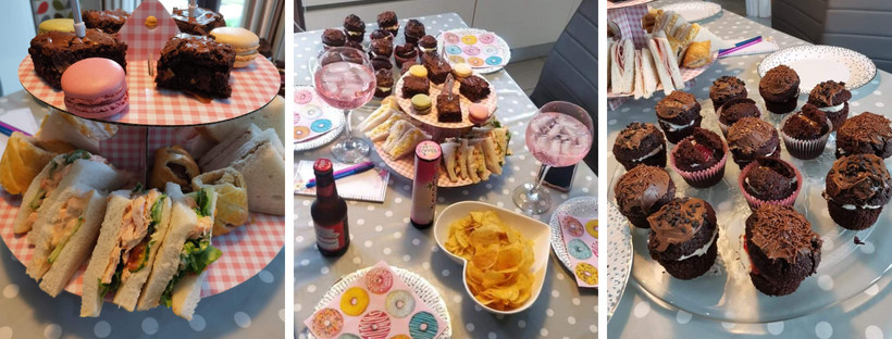 virtual party afternoon tea