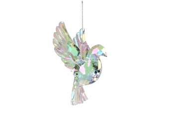 Gisela Graham Rainbow Iridescent Flying Dove Decoration