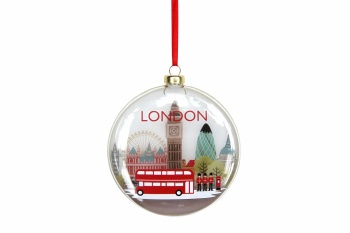 Gisela Graham London Glass Disc Decoration