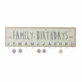 Family Birthdays Wall Plaque With Hanging Discs