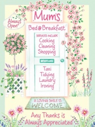 Mum's Bed and Breakfast Novelty Metal Wall Sign