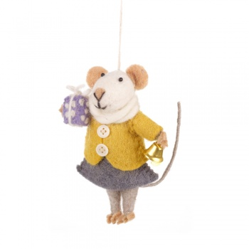 Felt So Good Agnes Mouse Hanging Decoration