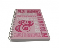 Best Mummy in Lincoln Lined Wiro Bound Notebook